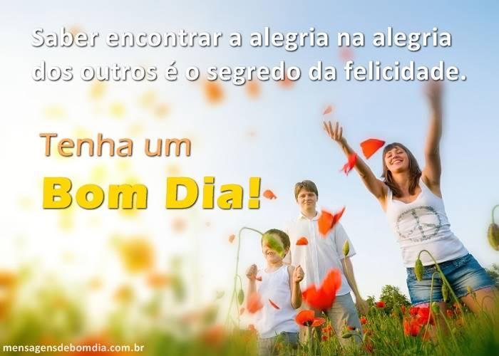alegria na alegria dos outros