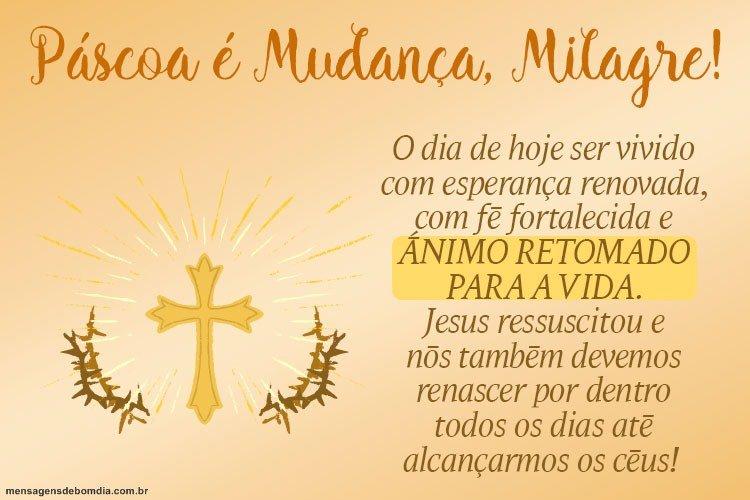 Bom Dia! Feliz Páscoa!