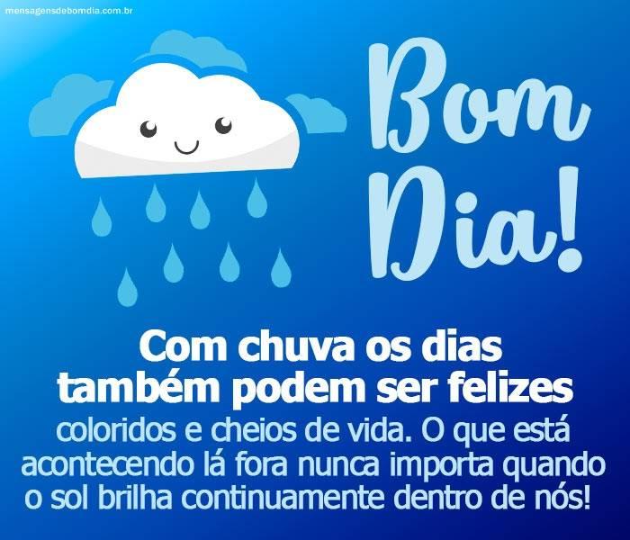 Bom Dia Com Chuva Mensagens De Bom Dia