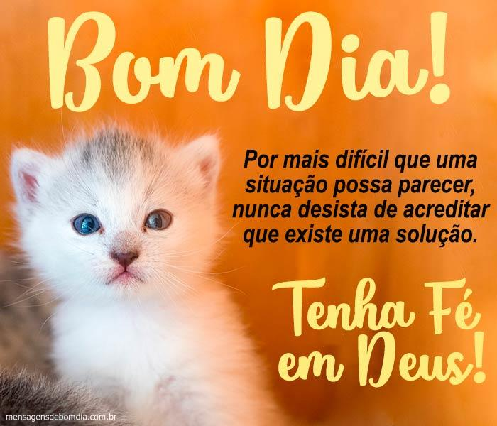Bom Dia com Fé em Deus!