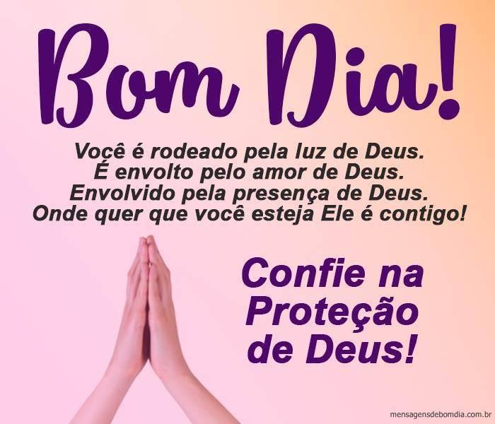 Bom Dia com a Proteção de Deus