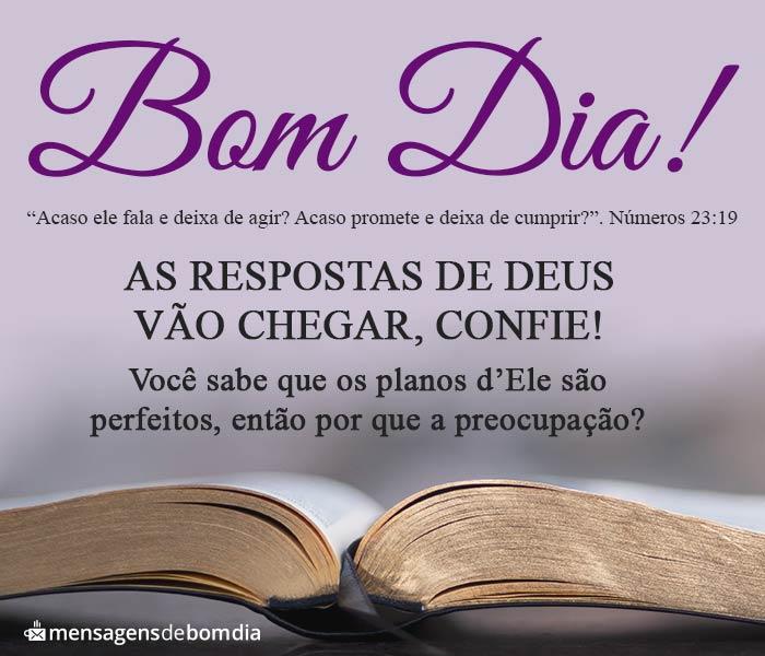 Bom Dia, Deus não Deixa de Agir