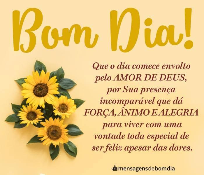 Bom Dia Envolto pelo Amor de Deus