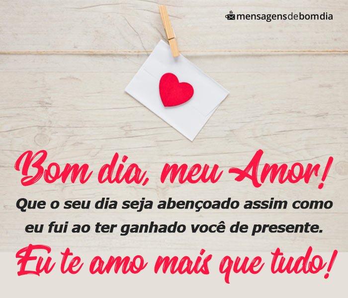 Bom Dia Amor Mensagens De Bom Dia Para Seu Amor