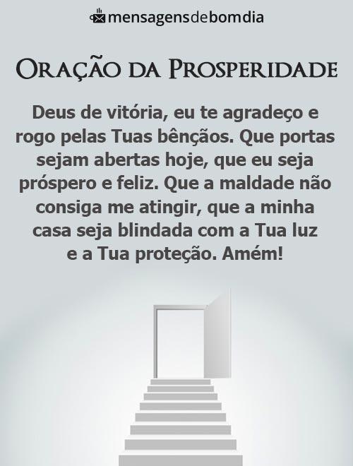 Oração da Prosperidade para um Dia Abençoado