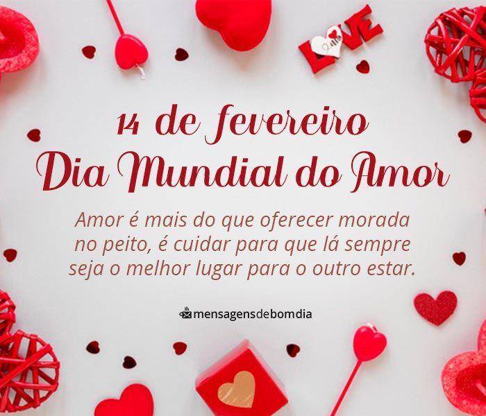Mensagem para Dia Mundial do Amor, 14 de Fevereiro