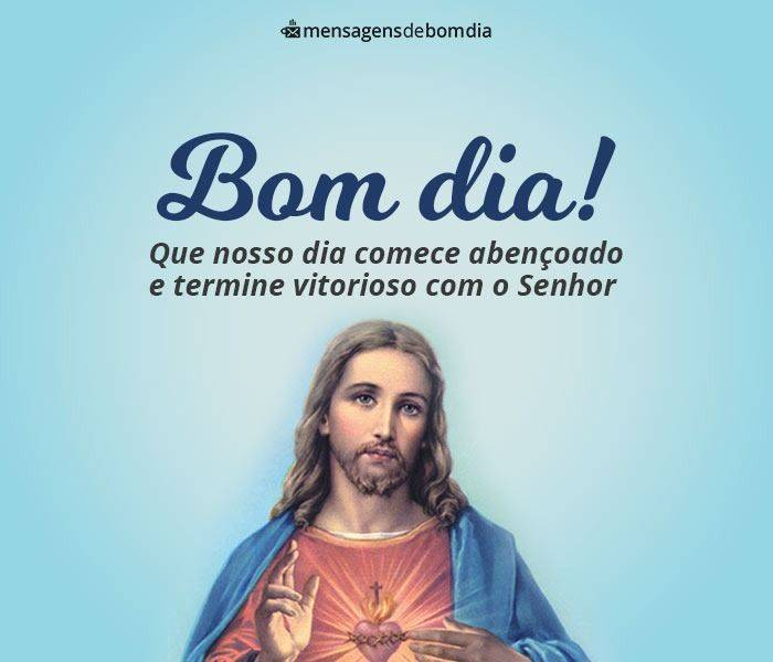Bom Dia com Imagem de Jesus