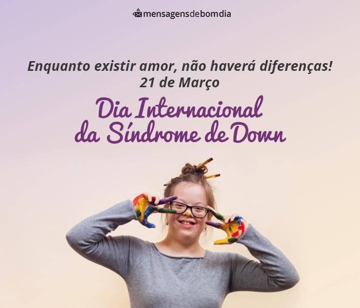 Dia Internacional da Síndrome de Down (21/03)
