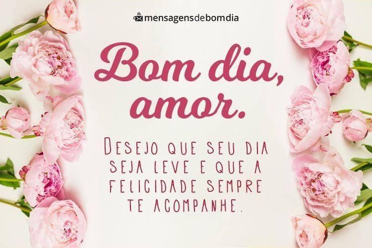 Desejo que Seu Dia seja Leve, Amor