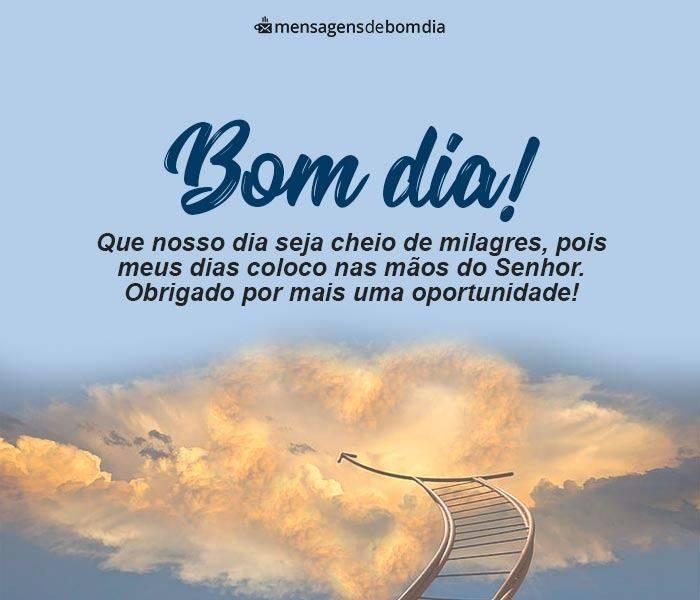 Bom dia Cheio de Milagres!