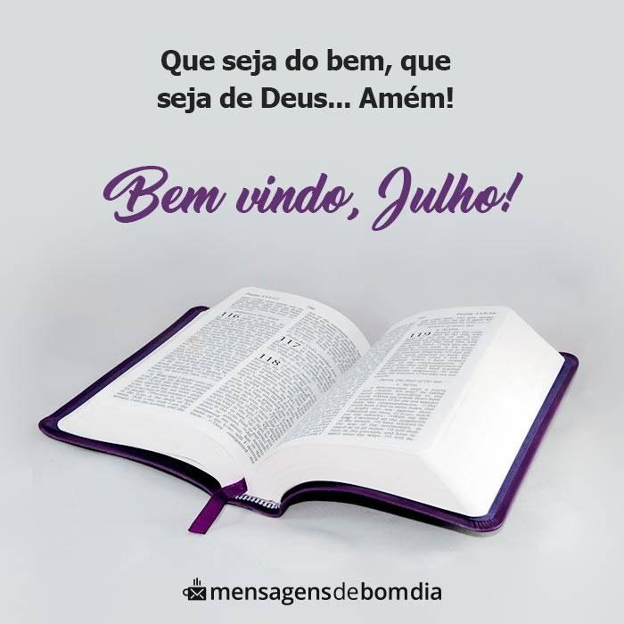 Que Julho Seja do Bem, Seja de Deus