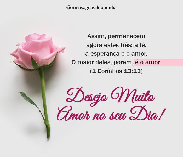 Desejo Muito Amor no seu Dia