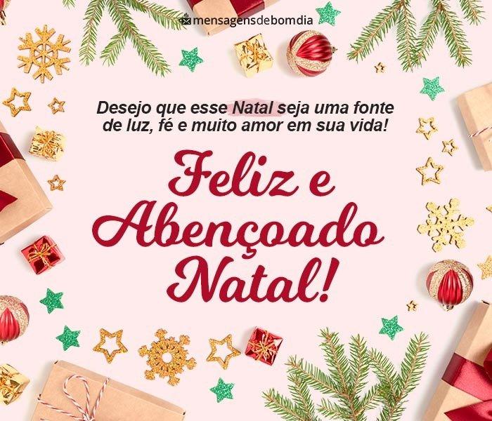 Feliz e Abençoado Natal!