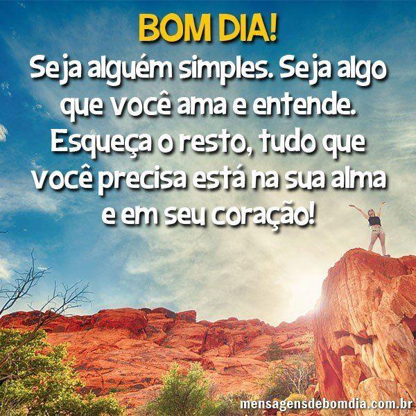 Seja alguém simples